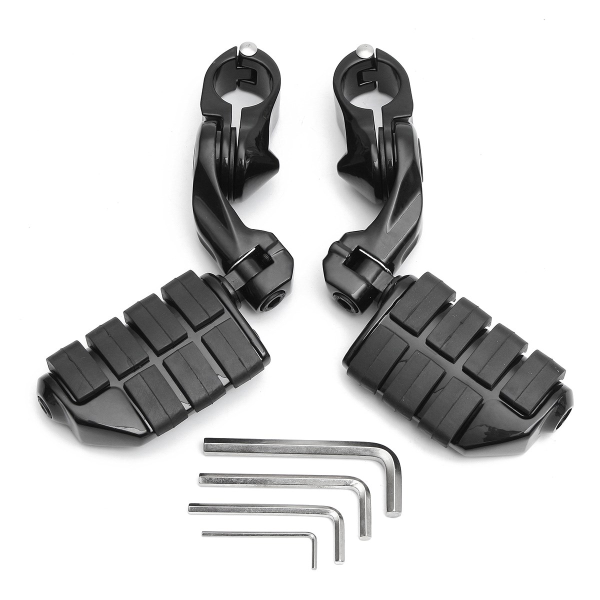 1 Pair Black Motorcycle Short Angled Foot Rest Adjustable Peg Pedal 1.25/32mm For Harley-Davidson free shipping 10pcs as19 hg as19 tqfp48