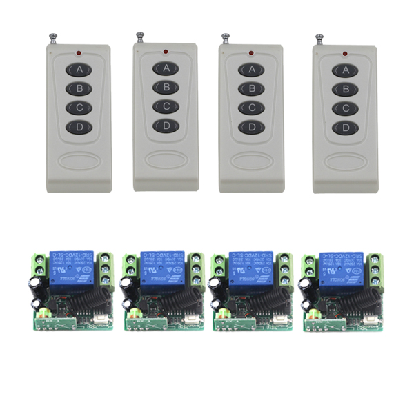 DC 12V 10A Single channel Relay Wireless Remote Control Switch 315MHz 200M Controller Brand New SKU: 5392 high quality dc 12v 10a 1 channel wireless control rf 200m long range remote control 4pcs 315mhz switch sku 5367