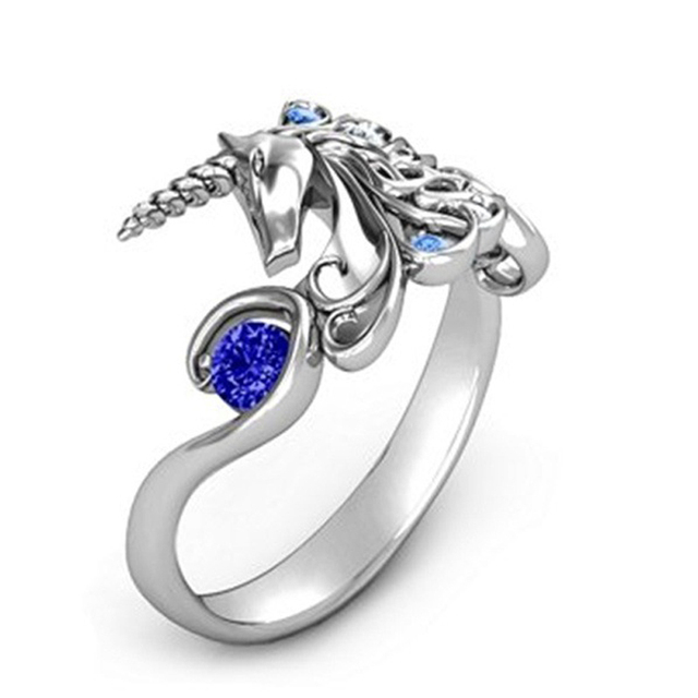 Creative Unicorn Engagement Rings for Women