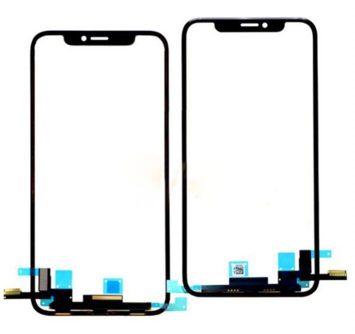 Pour iPhone XS Digitizer Avant Lentille En Verre Tactile Écran LCD Panneau Extérieur Avec tactile Flex Câble