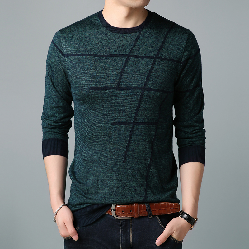 Top Grade New Fashion Brand Sweater O-Neck Men's Pullovers Slim Fit Jumpers Knitwear Winter Korean Style Casual Mens Clothes