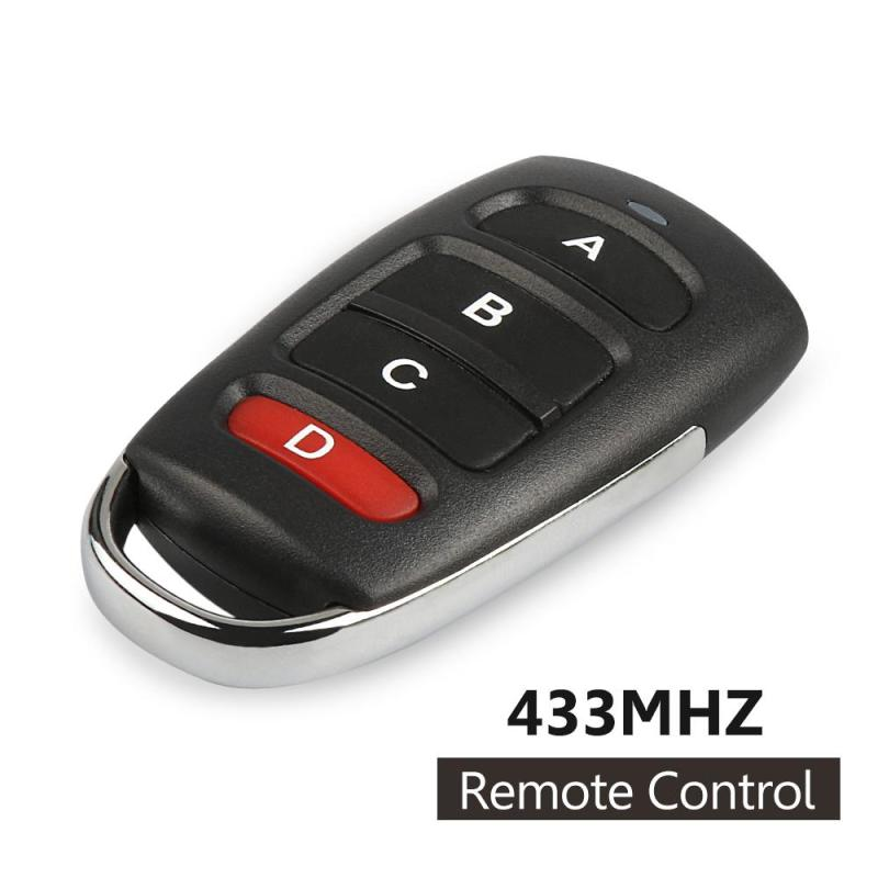 433mhz Wireless Remote Control Switch 4 Buttons Copy Cloning Electric Garage Door Security Alarm Controller Key Fob Car Keys D 40km h 4 wheel electric skateboard dual motor remote wireless bluetooth control scooter hoverboard longboard