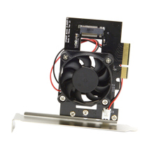 PCI-E 3.0 x4 Lane Host Adapter Converter Card M.2 NGFF M Key SSD to Nvme PCI Express with Cooling Fan