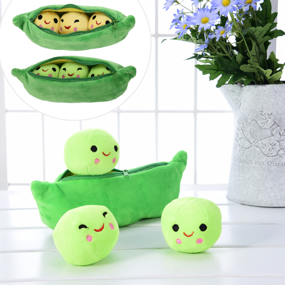 25CM Cute Kids Baby Plush Toy Pea Stuffed Plant Doll Kawaii For Children Boys Girls gift High Quality Pea-shaped Pillow Toy 25cm cute pea stuffed plant doll baby plush toy for children or girlfriend funny stuffed
