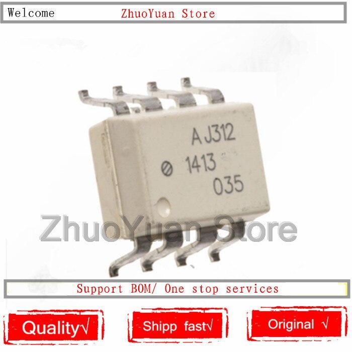 10PCS/lot HCPL-J312 AJ312 A J312 SOP-8 SMD8 HCPLJ312  IC Chip