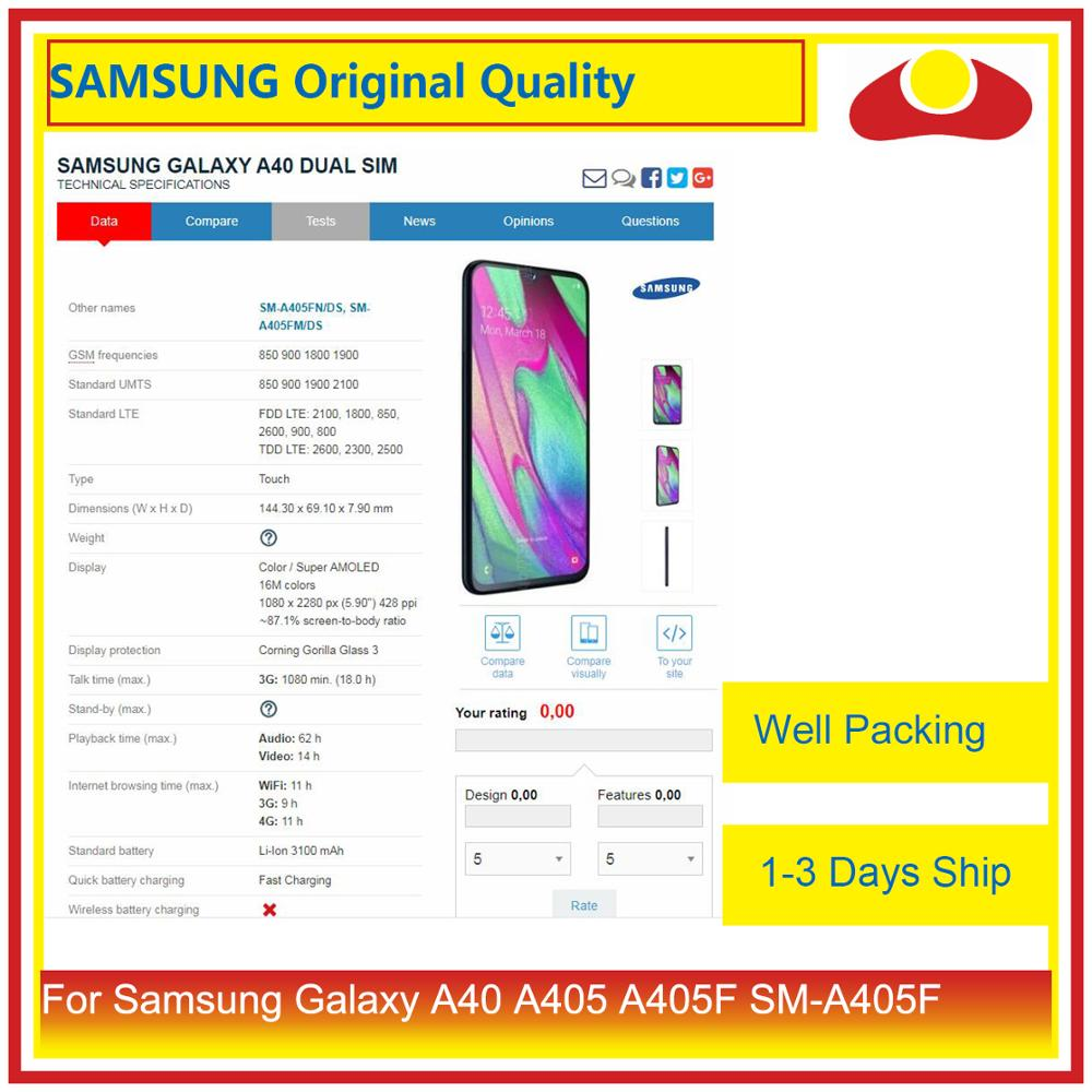 "Image 4 - Original 5.9"" For Samsung Galaxy A40 A405 A405F SM A405F LCD Display With Touch Screen Digitizer Panel Pantalla Complete-in Mobile Phone LCD Screens from Cellphones & Telecommunications"