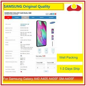 "Image 4 - Original 5.9 ""Para Samsung Galaxy A40 A405 A405F SM A405F Display LCD Com Painel Touch Screen Digitador Pantalla Completo"
