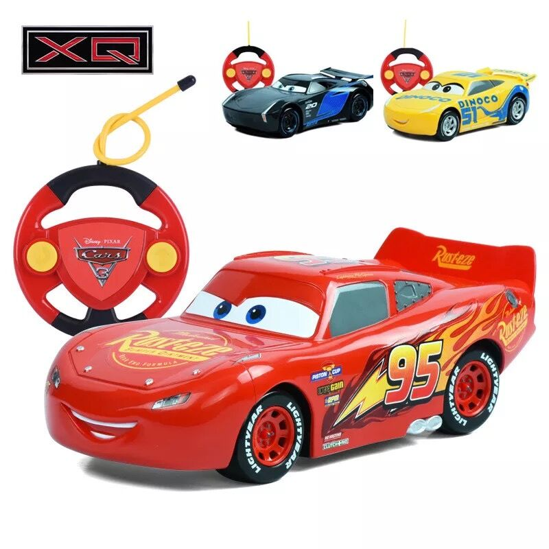 Original box Genuine Disney Pixar Cars 3 Lightening Macqueen Car with Remote Controller Toy for Children Boys Car Race Xmas Gifs