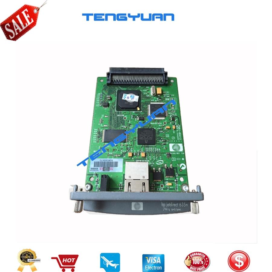 JetDirect 635N J7961G livraison gratuite 90% nouveau serveur d'impression interne Ethernet original carte réseau et imprimante traceur DesignJet