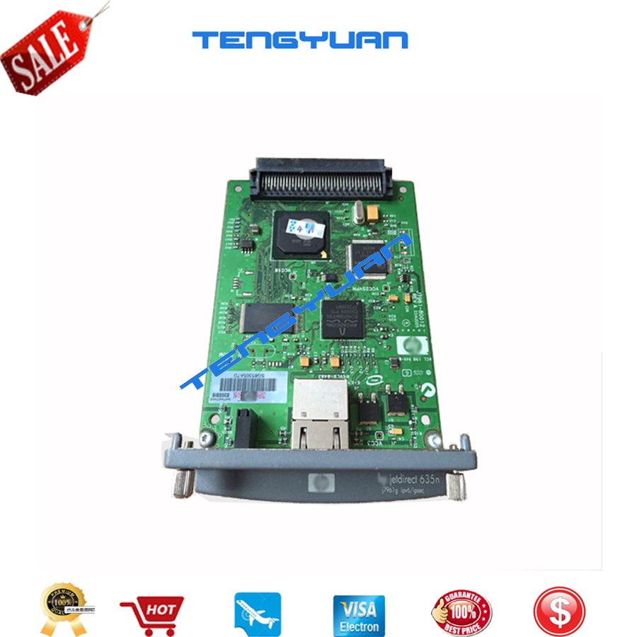 JetDirect 635N J7961G Free shipping 90% new original Ethernet Internal Print Server Network Card and DesignJet Plotter Printer