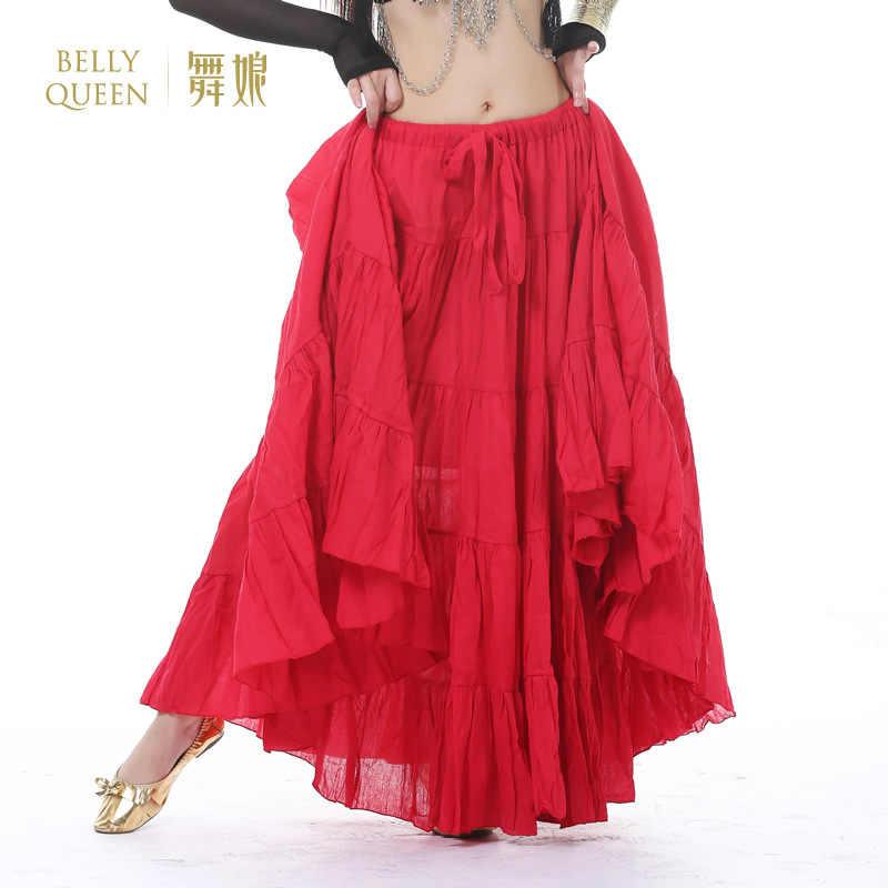 aa85c40dc3 Gypsy Dance Performance Women Gypsy Dance Full Circle Linen Skirt Women  Belly Dance Tribal Skirts