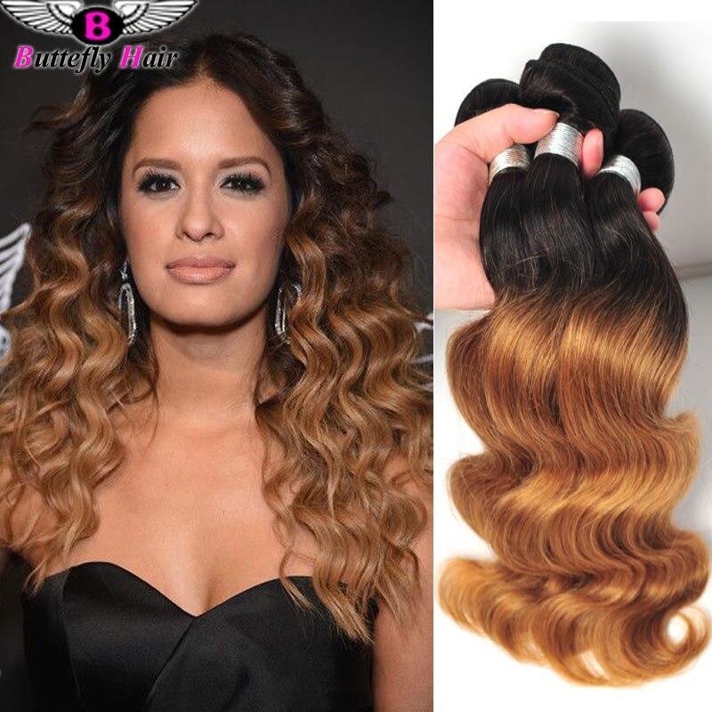 1b 27 1b 30 Two Tone Ombre Brazilian Hair Weave 3 Bundles