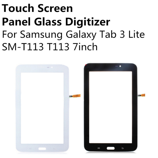 Black White Touch Screen Panel Glass Digitizer Sensor For Samsung Galaxy Tab 3 Lite SM-T113 T113 7inch Replacement Repair Parts
