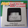 Leitor de código de Ferramenta de Diagnóstico Super mini Bluetooth ELM327 OBDII OBD Pode cor Branca versão 1.5 para telefone Celular Android