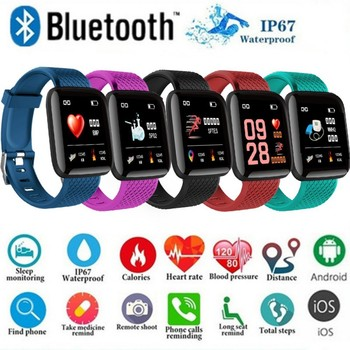 1.3 Inch Large 116 Plus Color Screen Smart Stride meter Real-time Heart Rate Blood Pressure Sleep Waterproof Smart Tools image