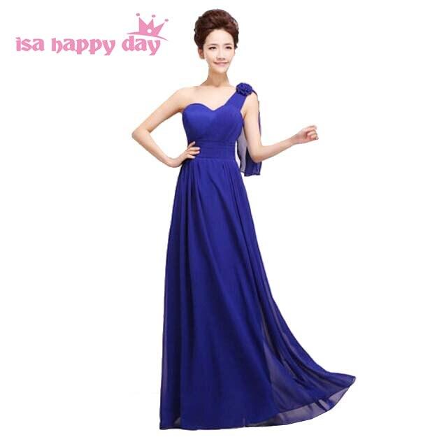 b45fc69ec63 grecian classy one shoulder style deep purple red women dinner dress plus  size gowns royal blue long bridesmaid dresses H1181