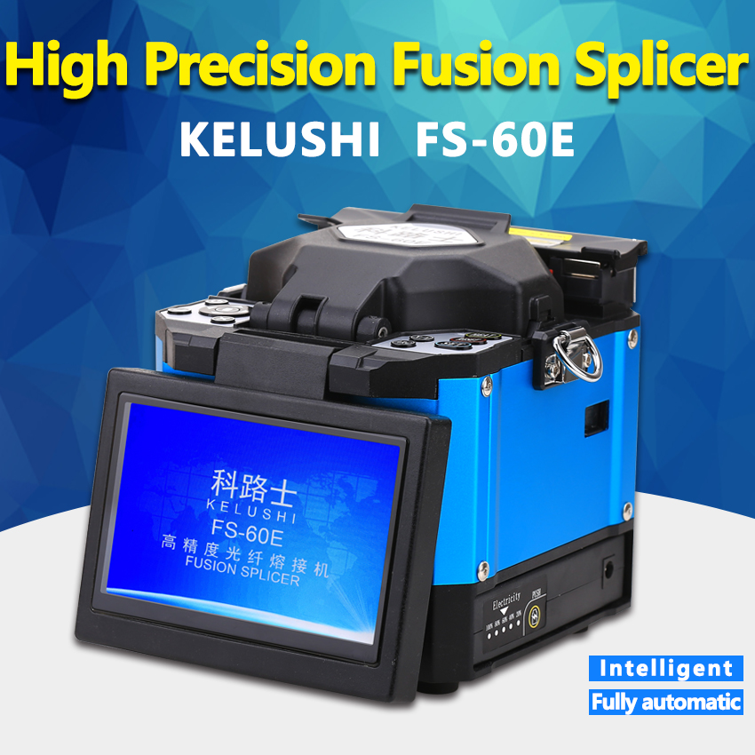 KELUSHI FS 60E FTTH Automatic Optical Fiber High Precision Fusion Splicer Machine Electrode Welding Splicing Machine