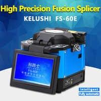 KELUSHI FS-60E FTTH Automatic Optical Fiber High Precision Fusion Splicer Machine Electrode Welding Splicing Machine Blue