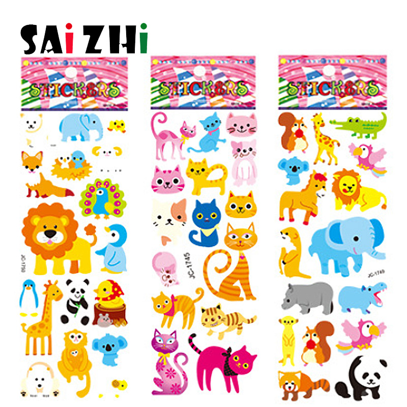 Saizhi 5Pcs Different 3D Cute Cartoon Stickers Toys Pegatinas Funny Toy For Children On Scrapbook Phone Laptop Gifts Animals Saizhi 5Pcs Different 3D Cute Cartoon Stickers Toys Pegatinas Funny Toy For Children On Scrapbook Phone Laptop Gifts Animals
