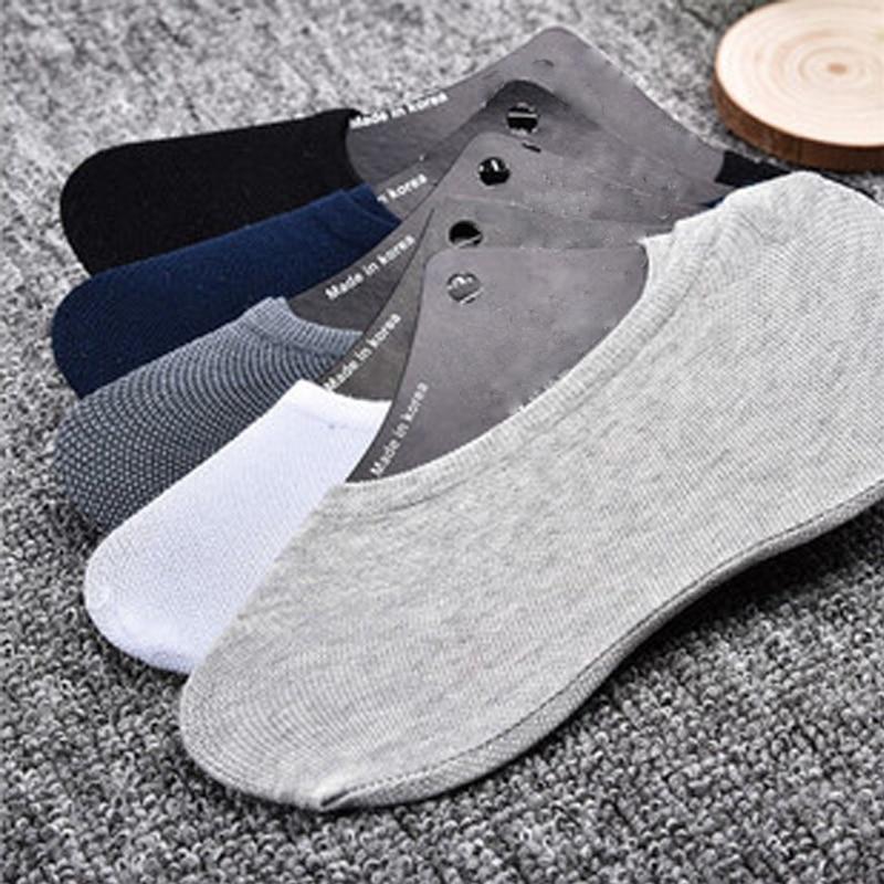 20 buc = 10 perechi Bărbați Femei Șosete de bumbac Vara Vânzare la cald Cămașe moi șosetă Fără pantofi șosete invizibile gleznă feminină