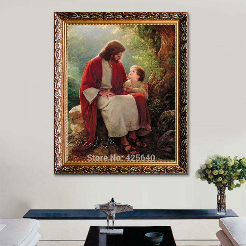 Jesus Christ Print Painting On Canvas Home Decor Catholic Cuadros Decoration Wall Art Pictures For Living Room Poster And Print Art Pictures Painting Posterpicture For Living Room Aliexpress