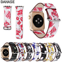 DAHASE Stars Skull Dots Watchband For Apple Watch Leather Band Cartoon Bracelet Wristband For IWatch Series