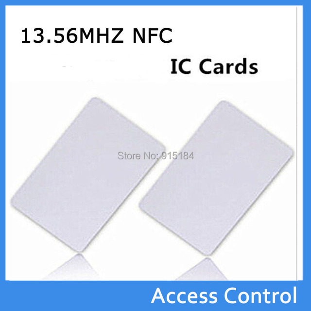 100pcslot Pvc Contactless Smart Nfc Ic Card Mf1 S50 1356mhz Access