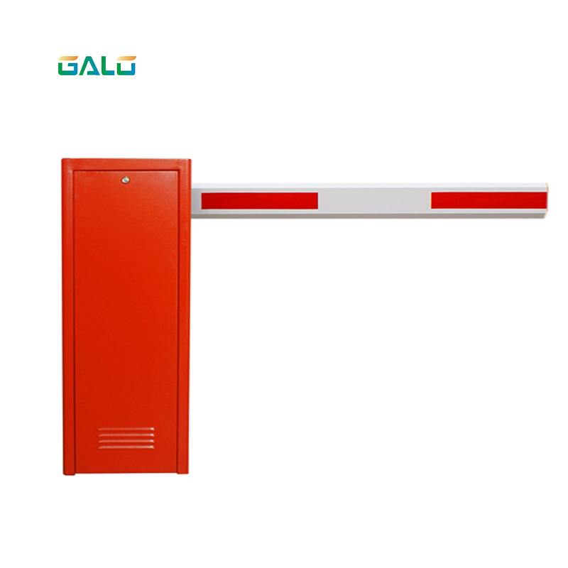 Red Heavy Duty Automated Parking Electric Barrier Gate System