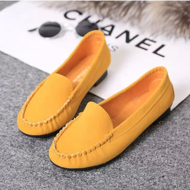 Spring Ballet Flat Shoes Women   Suede     Leather   Moccasins Single Shoes Breathable Loafers Ladies Slip On Shallow Comfort Shoes Red