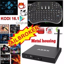 A95X king Smart TV Box  Rk3229 Quad Core  Android 5.1 4K Smart Media Player 1GB 8GB 2.4GHz WiFi Set-top Box Metal housing
