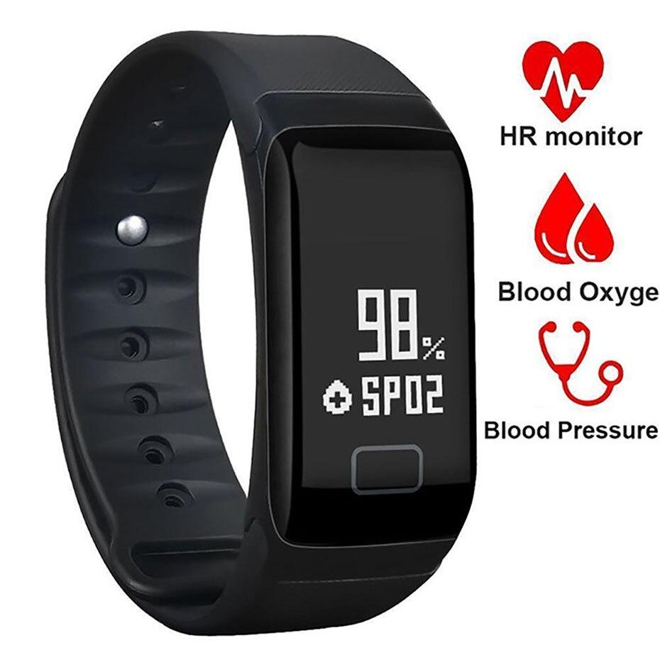 2018 Smart Uhr Männer F1 Wasserdichte Aktivität Tracker Mit Herzfrequenz Sport Uhr Blutdruck Blut Sauerstoff Monitor Für Android Einfach Zu Verwenden