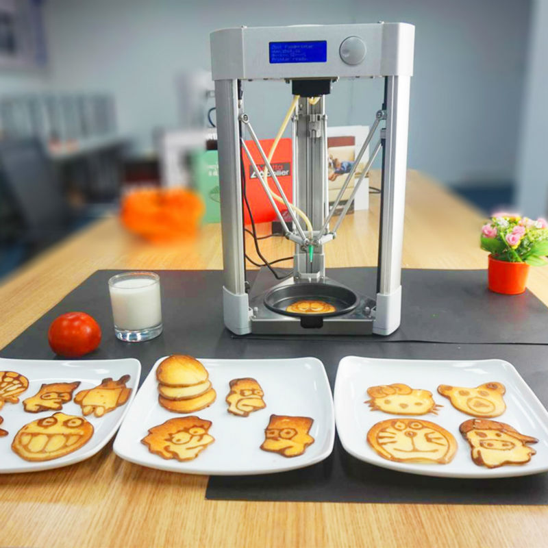 1pc Delta Type Home Used Desktop Food 3D Printer, Pancake Making 3D Printer Machine