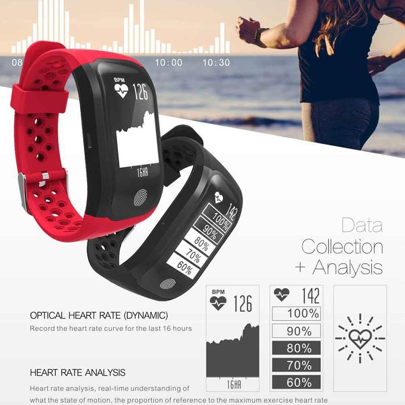 OGEDA Femmes de Remise En Forme Intelligente Montre la Fréquence Cardiaque Dynamique IP68 Étanche GPS Intelligent Montre-Bracelet Intelligent Bracelet Tracker Horloge S908