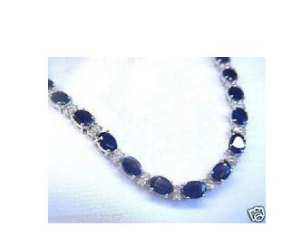Bangle Bracelet Beads Stone Crystal Silver Wholesale Blue Gem Women 17-19cm Tourmaline