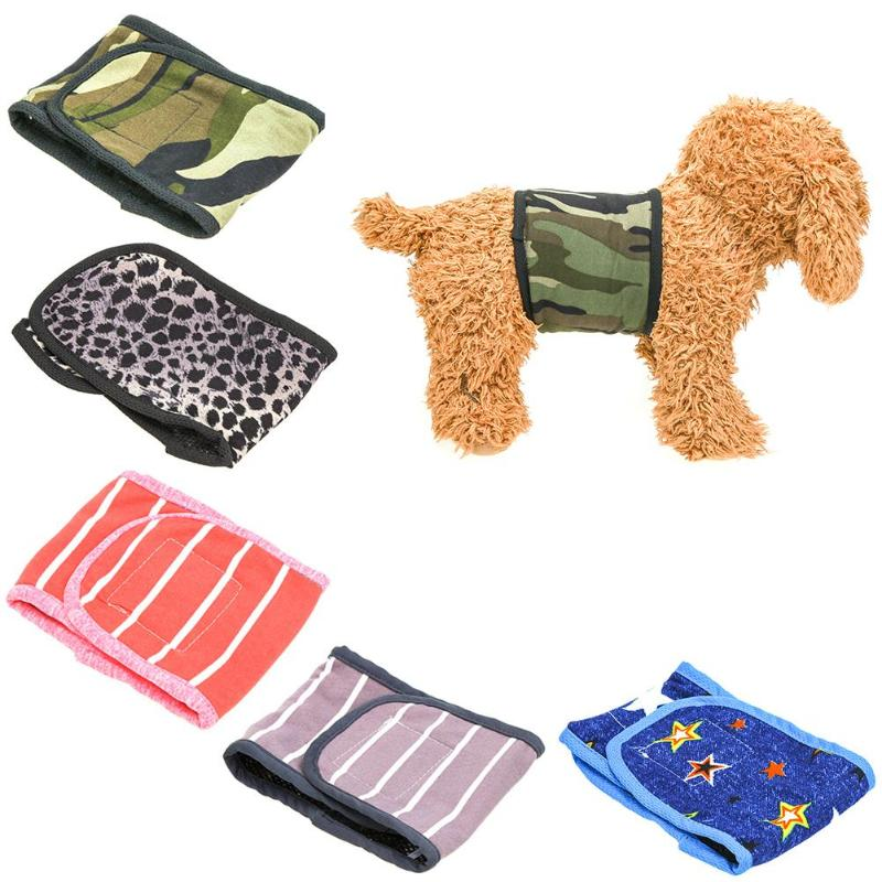 Pet Dog Sanitary Pants Goods Puppy Cat Striped Male Diaper Underwear Hygienic Belt For Small Dogs Pets Accessories