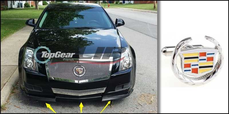 Bumper Lip Deflector Lips For Cadillac CTS CTS-V 2002~2015 Front Spoiler  Skirt For TopGear Fans Tuning / Body Kit / Strip