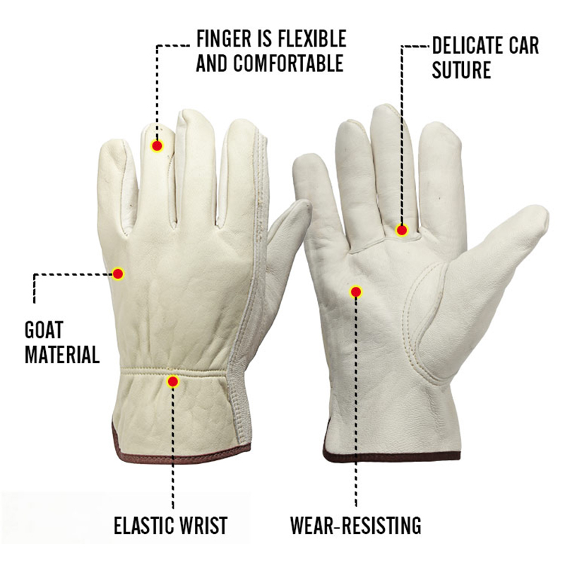 Image 2 - OZERO New Men's Work Gloves Goat Leather Security Protection Safety Cutting Working Repairman Garage Racing Gloves For Men  0013-in Safety Gloves from Security & Protection