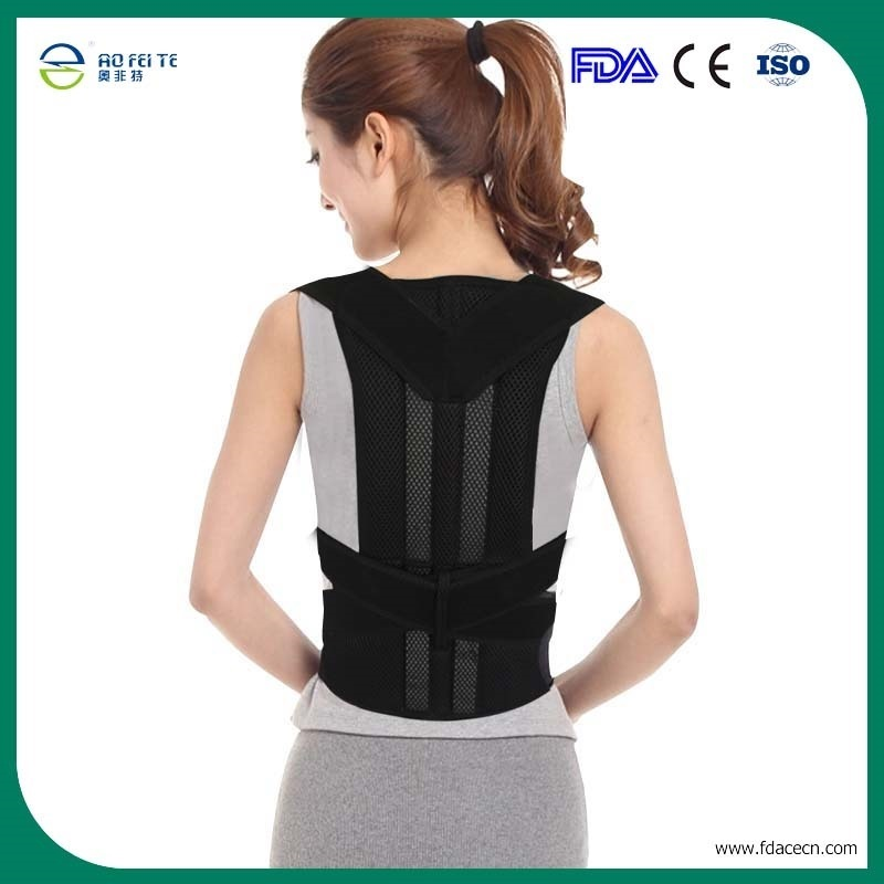 AOFEITE Lower Back Support  Lumbar Spine Correction Belt Posture Spine Support Belt Corset for Posture Correction Free Shipping double pull lumbar support lower back belt brace band waist four aluminium strips protection back waist support belt yw 01m27