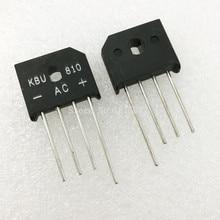 10PCS/LOT KBU810 KBU-810 8A 1000V diode bridge rectifier new and original IC