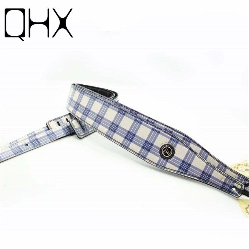 qhx 130 155cm leather guitar strap acoustic guitar bass electric guitar accessories parts high. Black Bedroom Furniture Sets. Home Design Ideas
