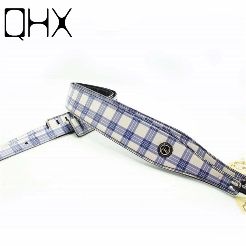 QHX 1Pcs Length 130-155cm leather guitar strap acoustic guitar bass Electric guitar straps parts musical instruments accessories acoustic electric guitar strap woven cloth leather end police line do not cross width 5cm 2 length 92 154cm 36 60 yellow black