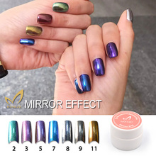 Charming Women Mirror Powder Metallic Silver Pigment Nail Glitter Powder Nail Art Gold Chrome Magic Look Nails Salon(Free Brush)