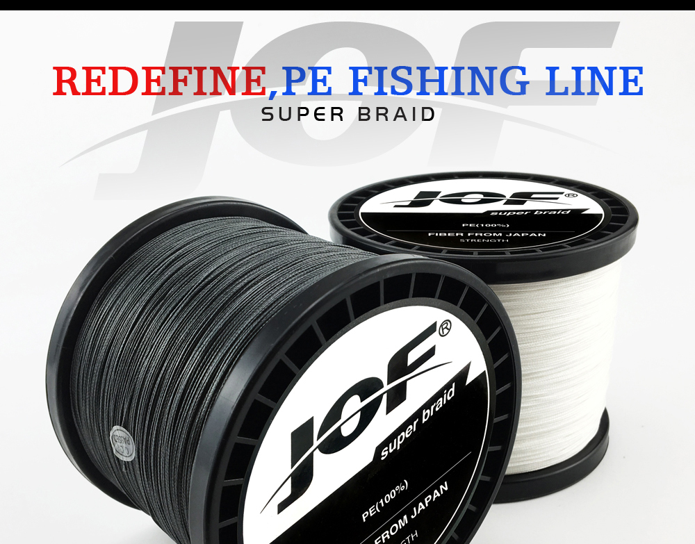 Multicolor 8 Strands 300M 500M 1000M PE Braid Fishing Line Sea Saltwater Fishing Weave 100% SuperPower JOF 10