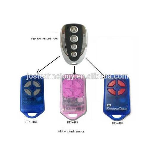High quality ! For ATA garage/gate door remote control PTX-4 replacement remote high quality and favorable price for ecp garage door replacement remote