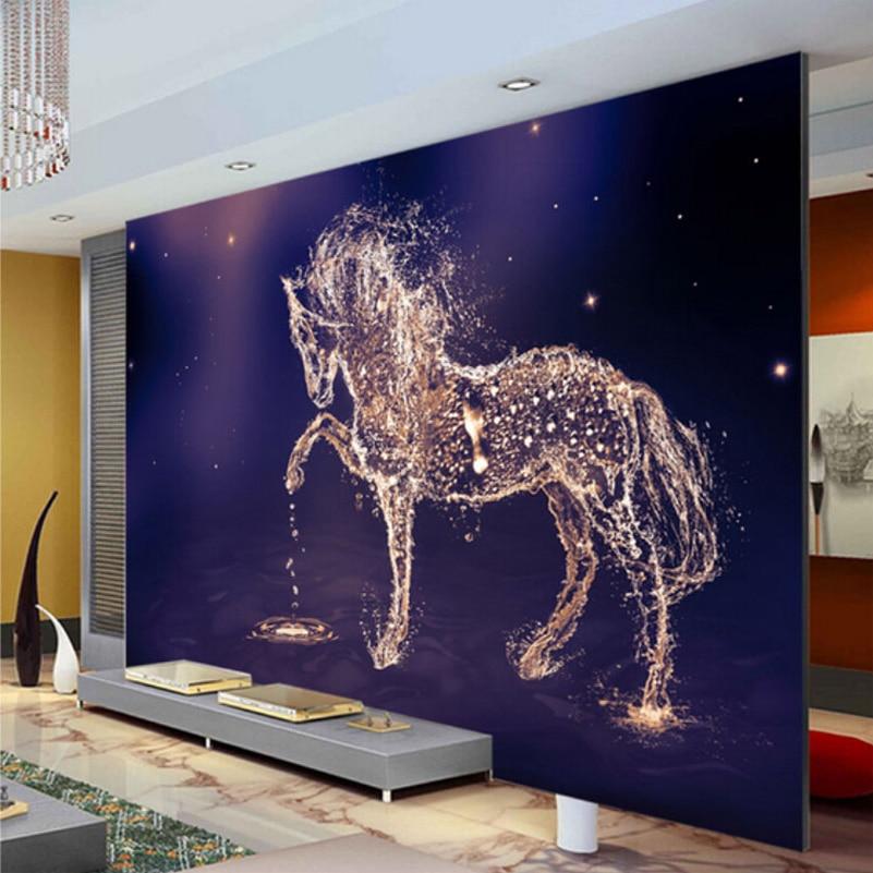 Beibehang Custom 3d Photo Wallpaper Horse Large Wall Painting Wall