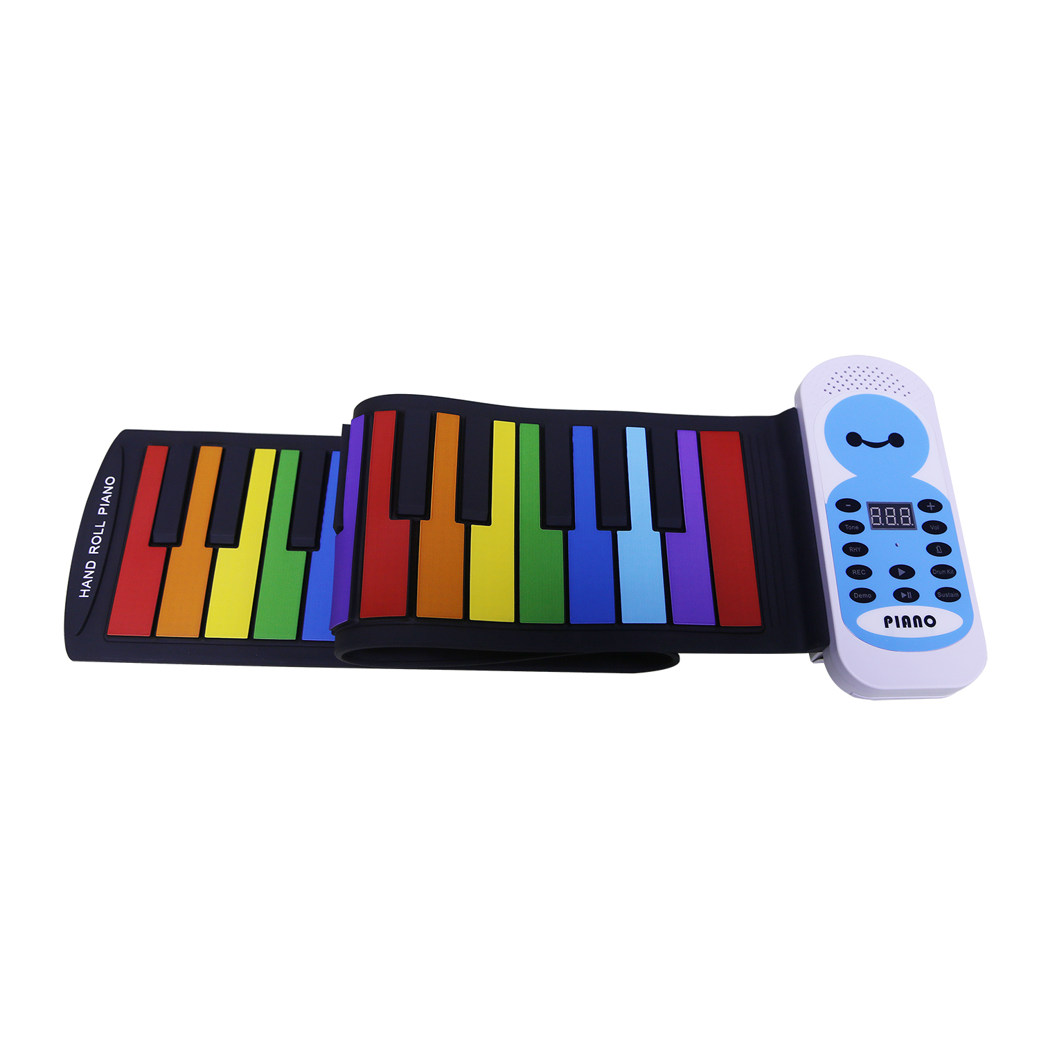 New 49 Keys Colorful Silicon Flexible Hand Roll Up Piano Electronic Keyboard Organ Enlightenment Music Gift головка ingersoll rand s64m21l ps1