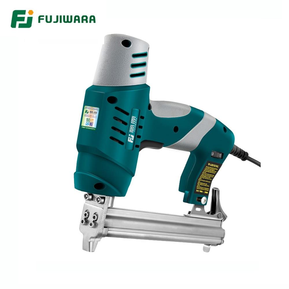 FUJIWARA Electric Nail Gun Single-use/Double-use Nail Stapler 422J Nails F30 Straight Nail Gun Woodworking Tools