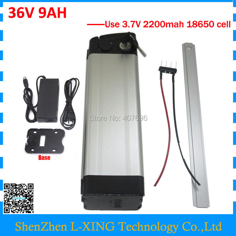 US EU Free Tax 36V 8.8AH 500W silver fish battery 36V Electric Bike 36V 9AH Lithium Battery pack with 15A BMS and 42V 2A charger electric bicycle battery 36v 12ah 500w lithium ion battery 36v with 42v 2a charger 15a bms e bike battery 36v free shipping