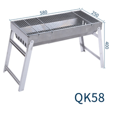 Outdoor tabletop portable stainless steel barbecue grill bbq charcoal
