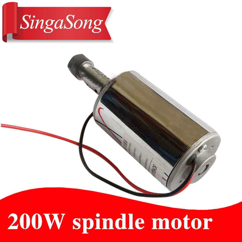spindle 200w motor air-cooling cnc spindle dc motor CNC Engraving Machine ER11 3.175mm collets machine tool dc110v 500w er11 high speed brush with air cooling spindle motor with power fixed diy engraving machine spindle